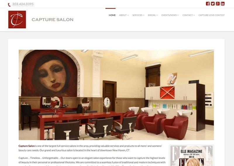 Hair Salon Web Design Fusion Printing  Web Design CT
