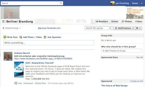 Neues Facebook Gruppen Design
