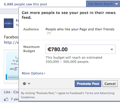 Facebook Promoted Posts - ohne Targeting