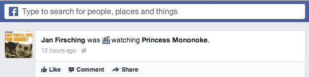 Facebook Aktivitäten - Status Update