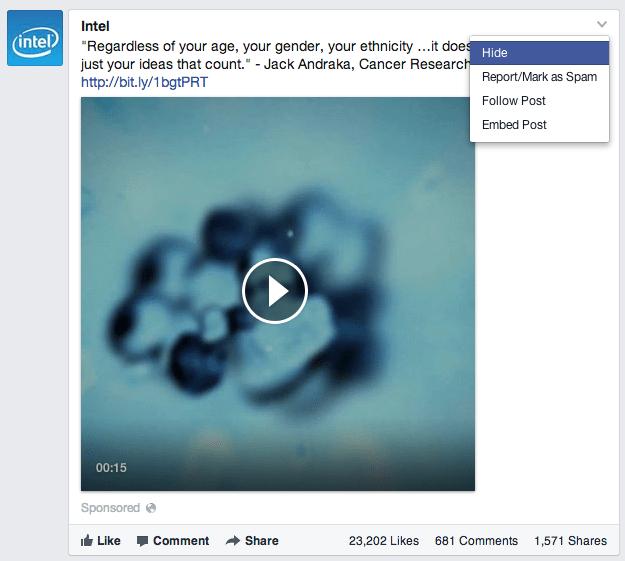 Facebook News Feed Anzeigen - Nutzerfeedback