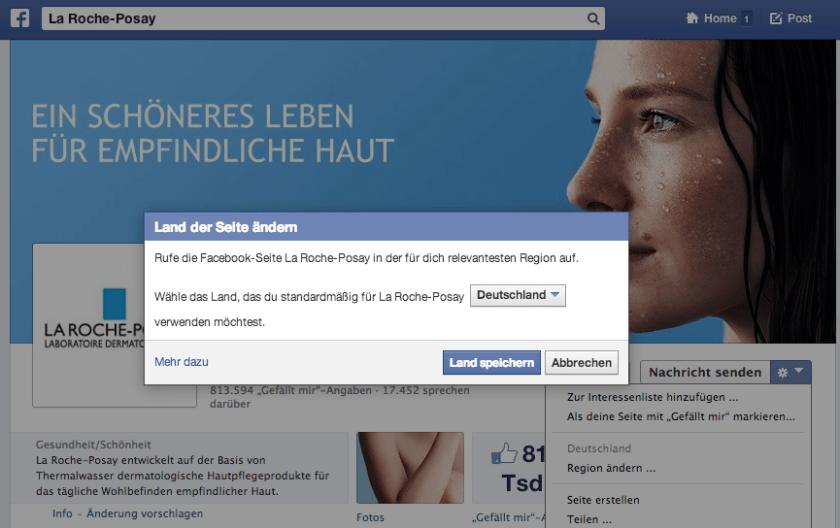 Facebook Globale Marken - La Roche-Posay