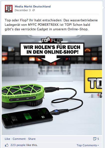 Facebook Fotos - Darstellung Chronik