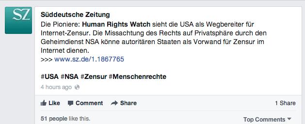 Organische Reichweite Facebook Link Posts II