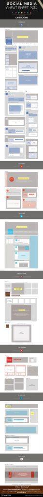 Bildgrößen von sozialen Netzwerken - Social-Media-Cheat-Sheet