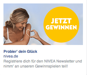 Facebook Anzeigen - langweilige Call-to-Action