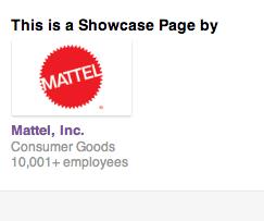 LinkedIn Showcase Page - Barbie von Mattel