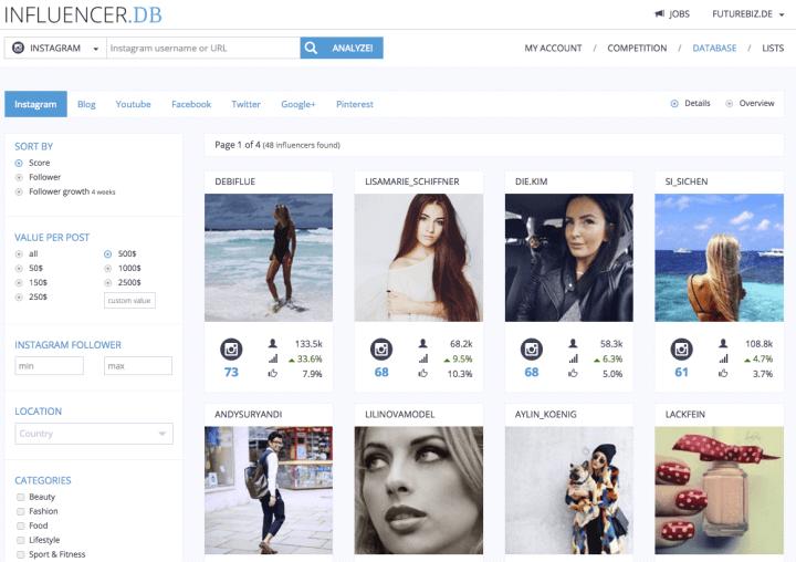 Instagram Marketing Tools - Influencer DB