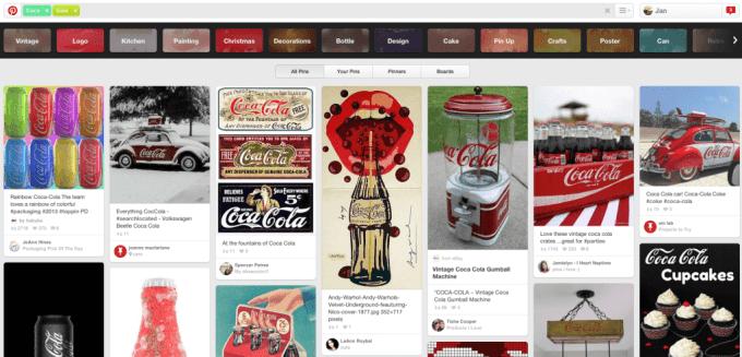 Pinterest Suche einsetzen um Unternehmensinhalte zu finden