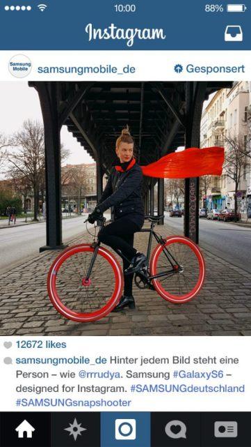 Instagram Anzeigen - Beispiele von Samsung Mobile Deutschland