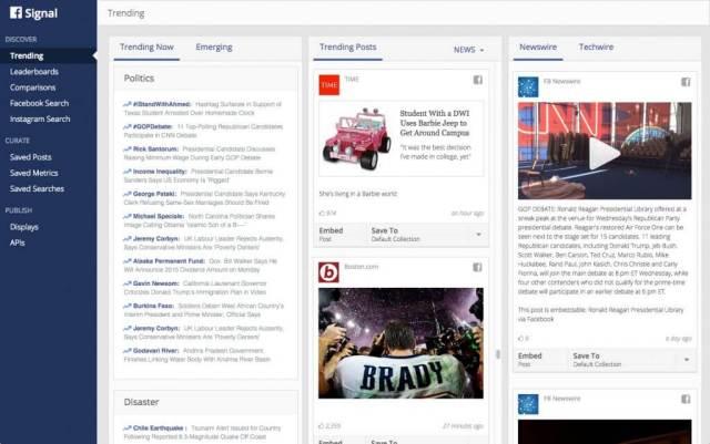 Facebook Signal - Facebook Suche nach Trending Topics für Journalisten