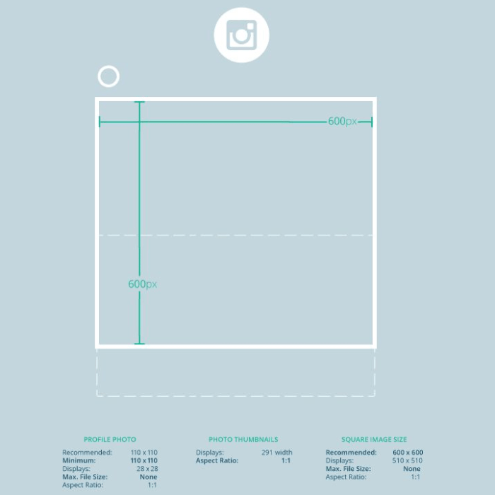 Social Media Bildgrößen 2016 - Instagram Bildgrößen