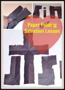 paper folding salvation lesson
