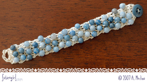 Futuregirl Craft Blog Tutorial Crochet Beaded Bracelet