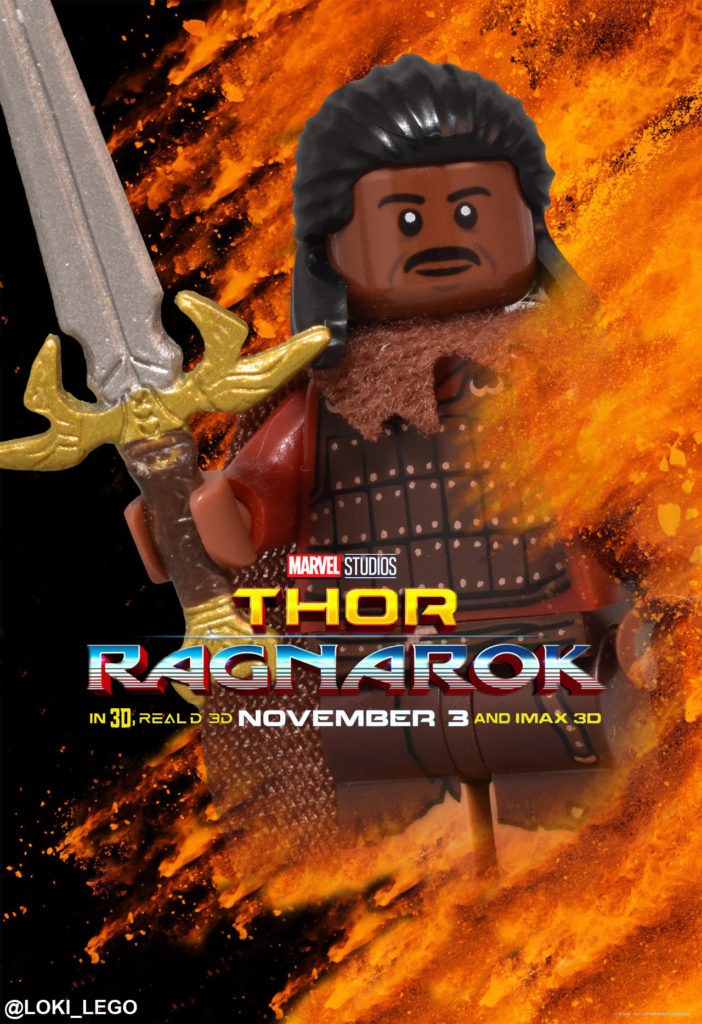 Black Brick Wallpaper Eight Thor Ragnarok Character Posters Recreated In Lego