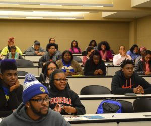 FVSU students in Miller Hall auditorium
