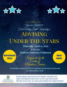 Register Early During Advising Under the Stars @ Wildcat Commons Clubhouse | Fort Valley | Georgia | United States