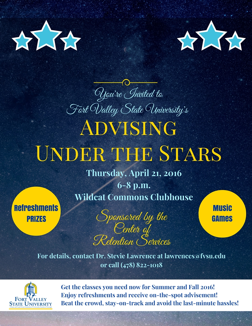 Register Early During Advising Under the Stars