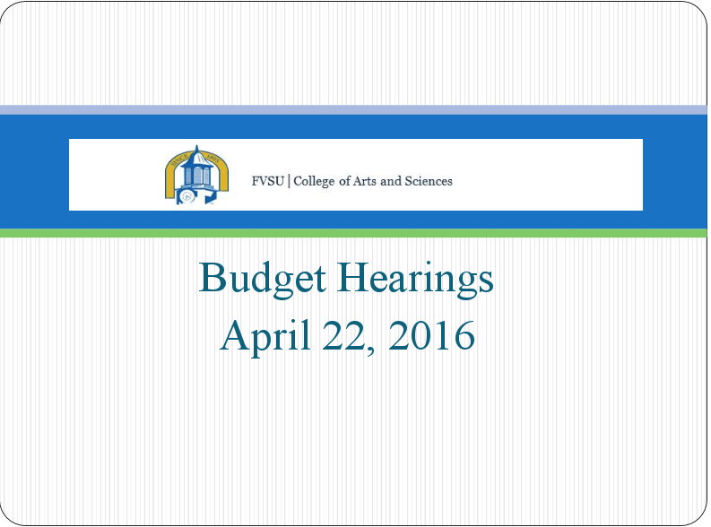 College of Arts and Sciences Budget Proposal