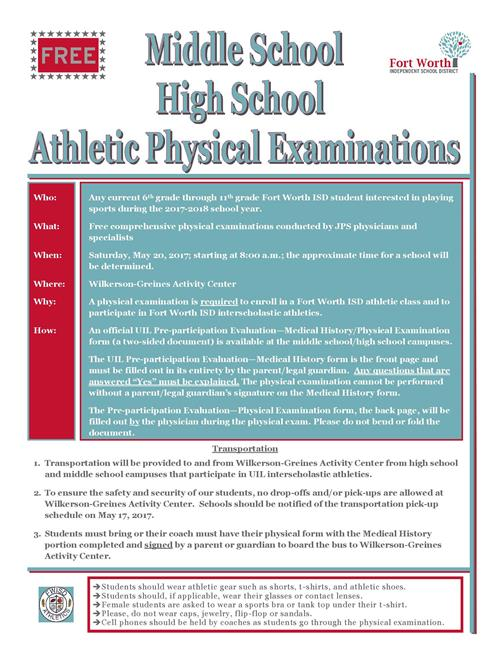 District News - Detail Page - physical exam form