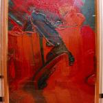 画家白髪しらが一雄さん(1924~2008年)の抽象画「タジカラ男お」
