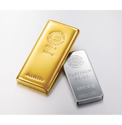 金とプラチナの人気