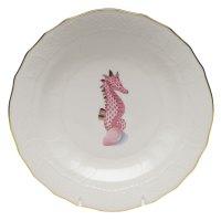 HEREND Aquatic Seahorse Dessert Plate