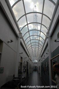 Looking down the Cox hallway
