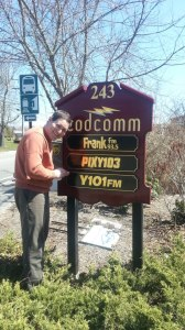 McVie puts up the new sign