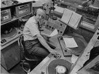Bradley at WBZ in the 1960s (photo: WBZ)