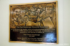 KDKA's newsroom plaque