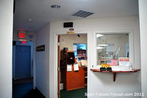 The KTNN studio hallway