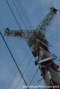 KJWP's new antenna, just below the candelabra
