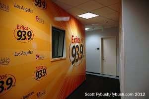 Down the hall to KXOS...