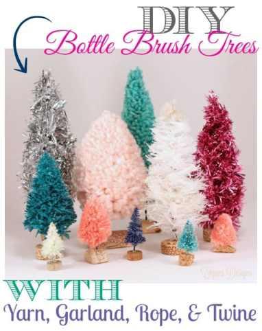 Handmade bottle brush trees