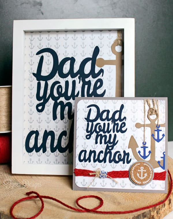 One Father's Day Silhouette Cut File. Two project ideas