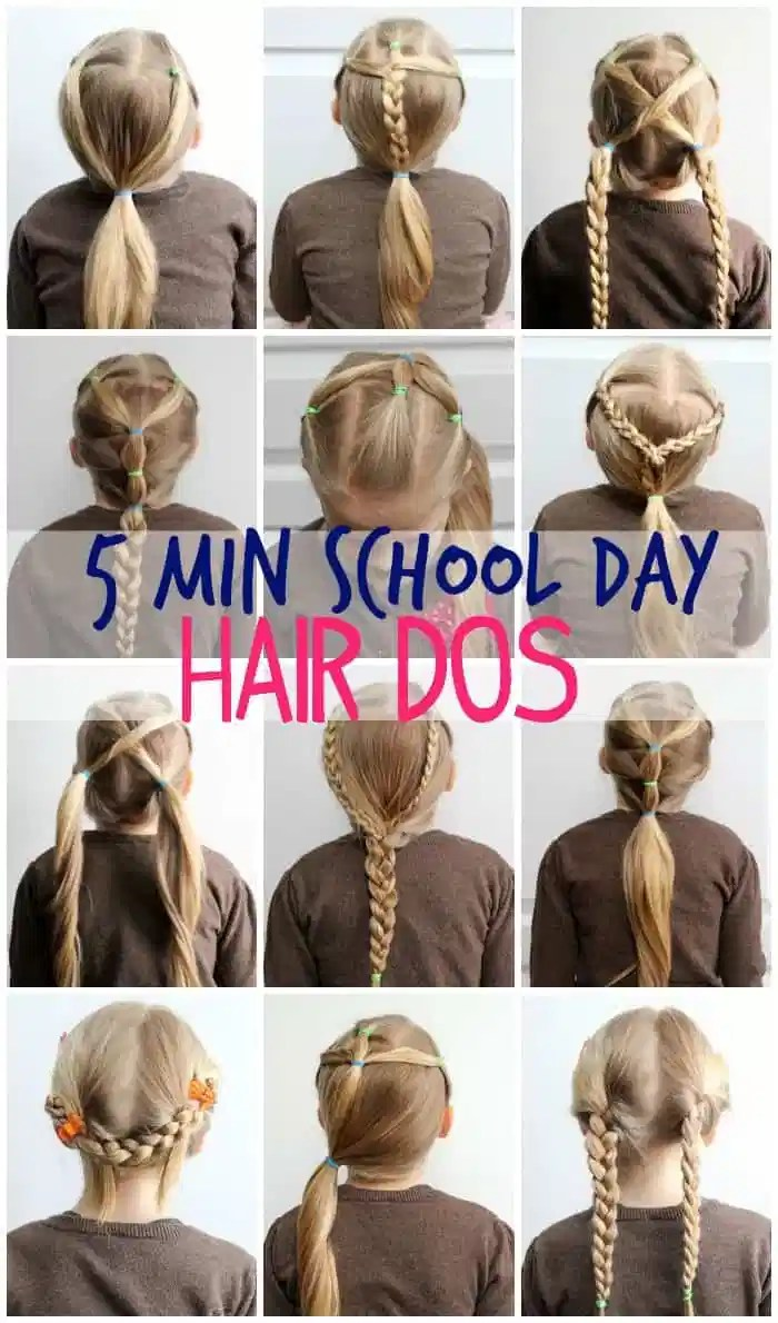 5 minute school day hair dos- easy and stays in!