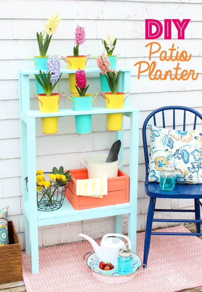 Easy to build DIY Patio Planter for $10!!