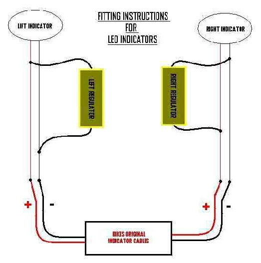 motorcycle led indicator wiring diagram