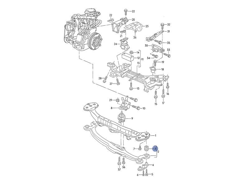 1988 vw golf engine diagram