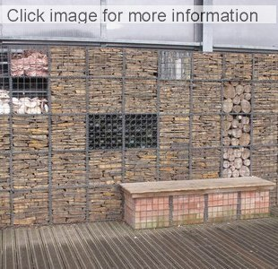 brick and timber filled gabions