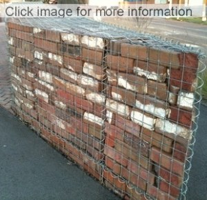 curved gabion brick wall