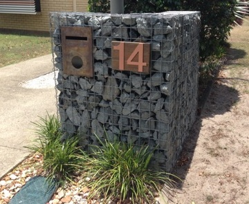 gabion mail box