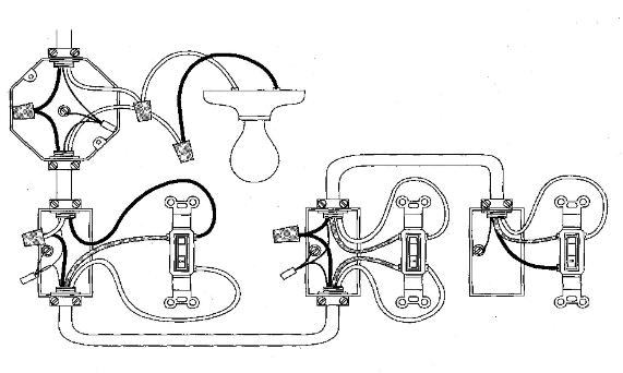 how to wire a four way switch diagram