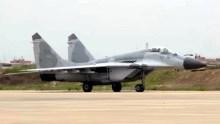 Uno de los MiG-29SPM que participaron del ejercicio Bilat 2015 rodando hacia el estacionamiento al término de una misión combinada con F-18s norteamericanos (captura video Fuerza Aérea Peruana).