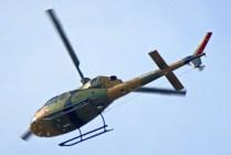 Decidido el retiro de los helicópteros del BAVE de la parada militar, el H-271 parte desde Rancagua hacia la zona de desastre el viernes 18 de septiembre (foto: Oscar Salgado Aguilera).