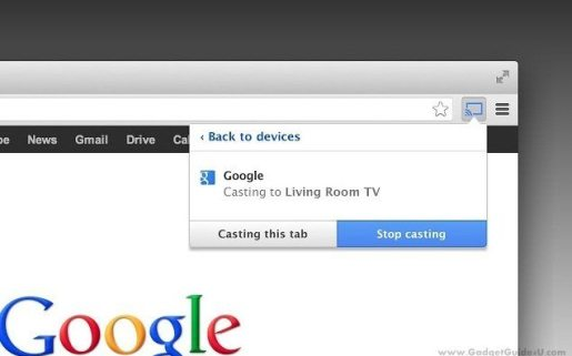 Google cast Chrome Extension for Chromecast