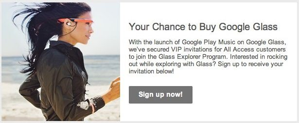 Google Play Music All Access customers can now Buy Google Glass