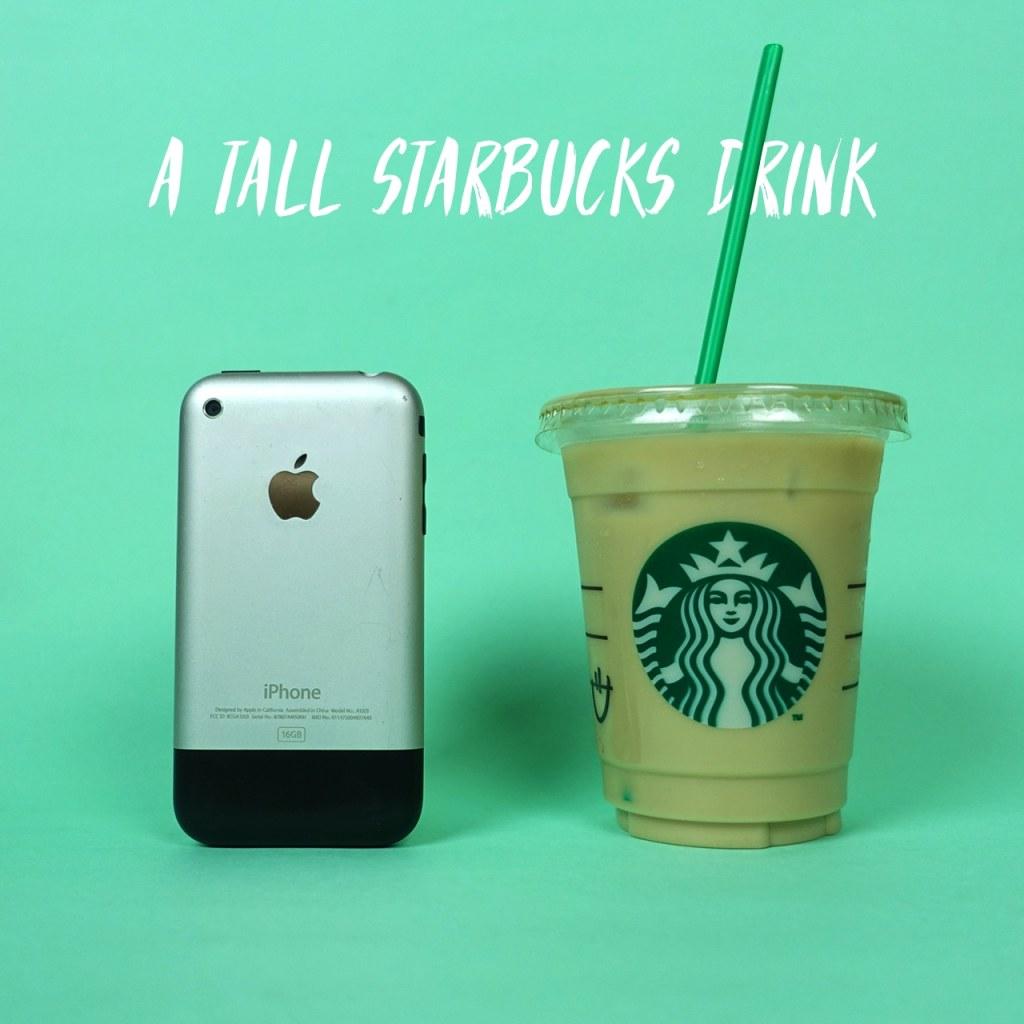 A tall Starbucks drink