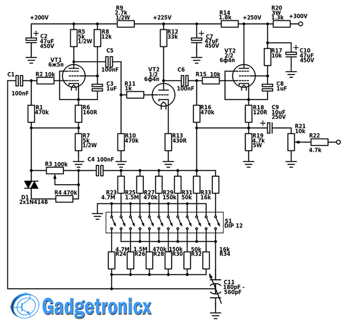 Vacuum Tube Circuit car block wiring diagram